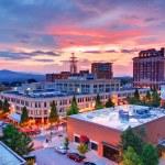 Downtown Asheville, North Carolina at Grove Arcade...