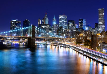 Photo pour Skyline du centre-ville de New York, New York, USA - image libre de droit