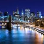 Skyline of downtown New York, New York, USA...