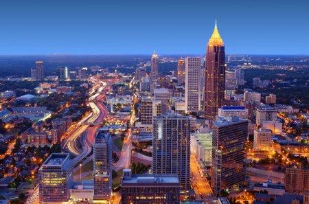 Photo pour Skyline du centre-ville d'Atlanta, Géorgie, USA - image libre de droit