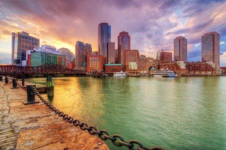 Photo pour Skyline du centre-ville de Boston, Massachusetts, USA - image libre de droit