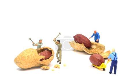 Foto de Concepto de salario mínimo bajo de trabajar por una miseria - Imagen libre de derechos
