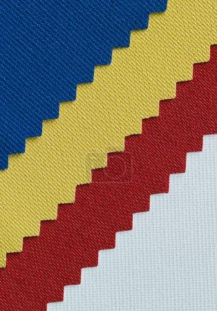 Foto de Textura de detalle de la tela ticolor - Imagen libre de derechos