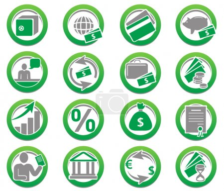 Set of finance and bank icons