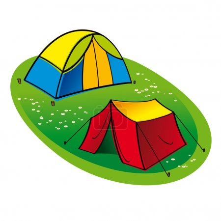 Two touristic Tents