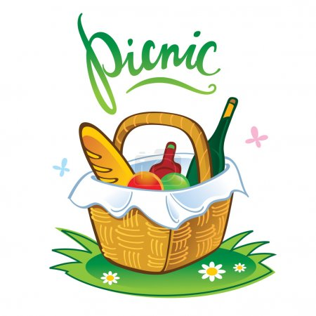 Picnic barbecue summer leisure vacations food in s...