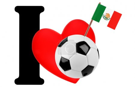 I love soccer ball