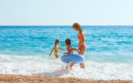 Family vacation on summer Ionian sea