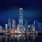 Amazing Hong Kong city lit up at night...
