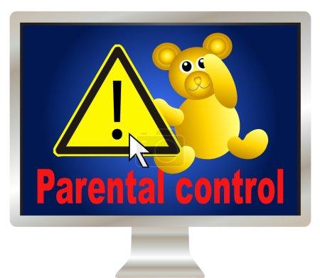 Photo pour Parental control: protect your kids on the internet through safe browsing - image libre de droit