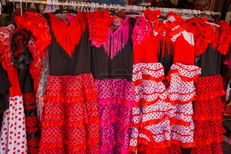 Traditional spanish dresses for flamenco