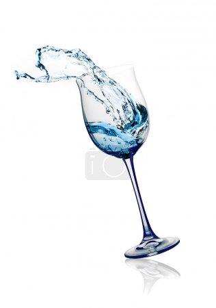 Szkło z rozpryskami wody