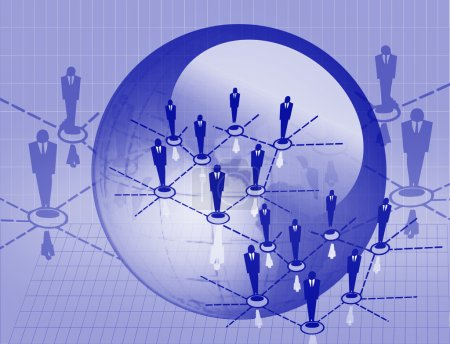 Photo for Social networks for business in blue - Royalty Free Image