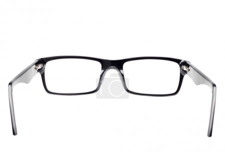 Photo for Classic black frame eye glasses seen from back view - Royalty Free Image