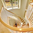 Beautiful luxury modern staircase design with hard...