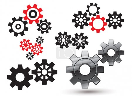 Illustration for Vector gears and cogwheel set - Royalty Free Image