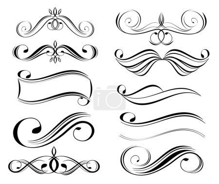 Illustration for Black vector decorative design elements - Royalty Free Image