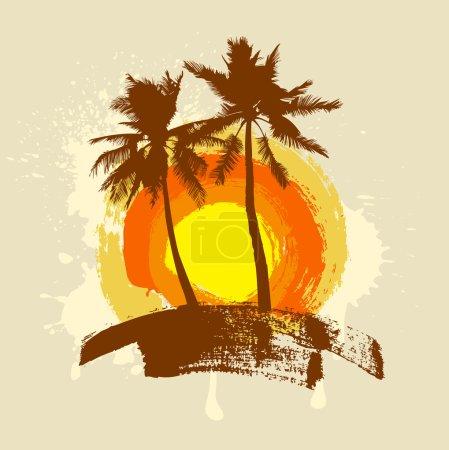 Summer tropical island