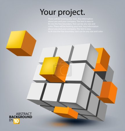 Abstract background with colored cubes...