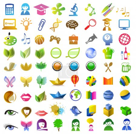 a lot of icons