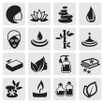 Vector black Spa icons set...