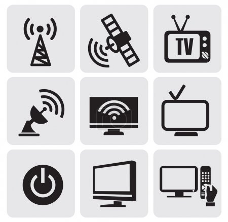 Illustration for Vector icon set - tv screens - Royalty Free Image