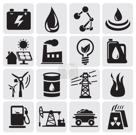 Energy and power icons