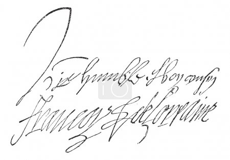 Signature of Francois de Lorraine, Duke of Guise (1519-1562), vi