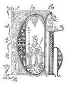 Miniature vintage engraving