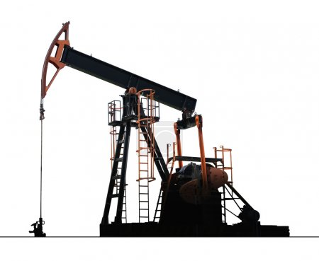 Photo for Isolated oil well pump - Royalty Free Image