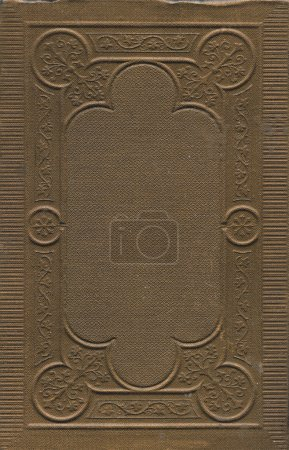 Photo for Antique book ornamental cover background and texture - Royalty Free Image