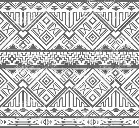 abstraktes geometrisches nahtloses Aztekenmuster