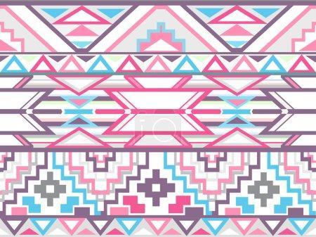Foto de Abstracto geométrico Azteca de patrones sin fisuras. patrón del estilo colorido ikat. - Imagen libre de derechos