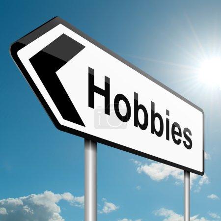 Photo pour Illustration représentant une circulation routière signe avec un concept de loisirs. fond de ciel bleu. - image libre de droit