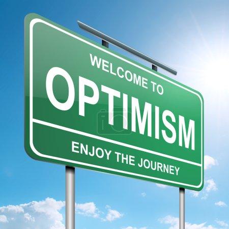 Optimistic concept.