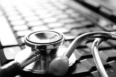 Photo for Stethoscope and keyboard, as well as a place for your text - Royalty Free Image