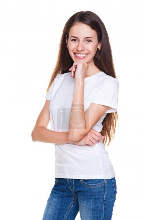 Attractive young woman in jeans