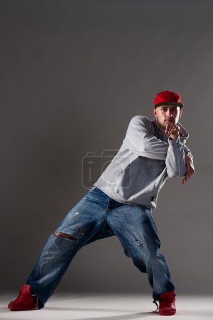 Stylish man dancing