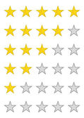 Yellow Rating Stars For Hotel