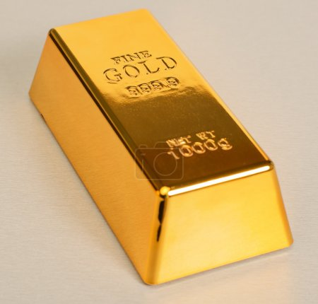 Studio Shot Of 1kg Gold Bar