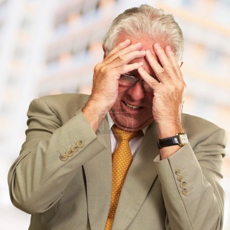 Senior Business Man In Tension