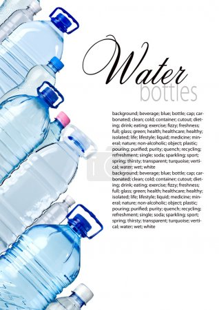 Photo for Bottles of water isolated on the white with copy spase - Royalty Free Image