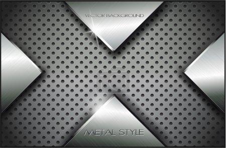 Illustration for Metal background.Vector illustration 9 - Royalty Free Image