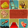 Illustration of collage background of movie with d...