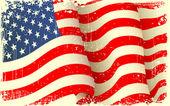 Grungy American Flag Waving