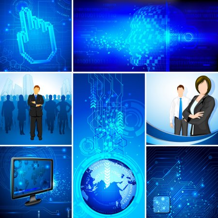 Illustration for Illustration of business on technology template - Royalty Free Image
