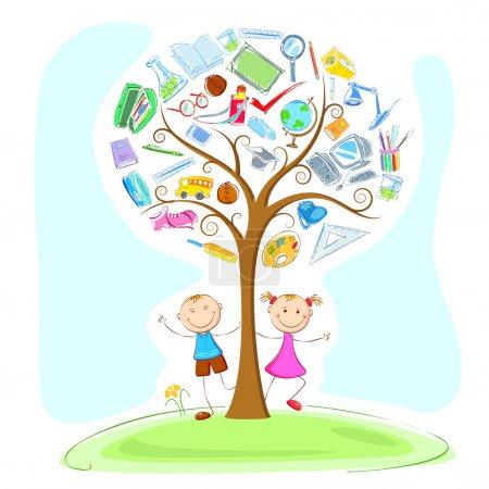 Kids under Wisdom Tree