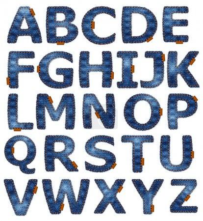 Photo pour Jeans alphabet format isolé disponible en portfolio . - image libre de droit