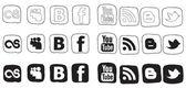 Social media icon black and white