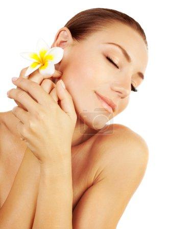 Woman enjoying day spa